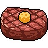 Bifteck de viande d'art de pixel de vecteur Images stock