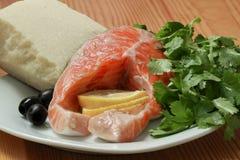 Bifteck des saumons Photo libre de droits