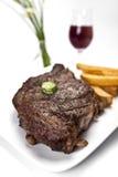 Bifteck et fritures Photographie stock libre de droits
