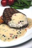 Bifteck et peppersauce Image libre de droits