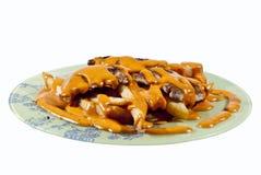 Bifteck et pommes chips Images libres de droits