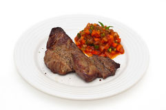 Bifteck et sauce Images libres de droits