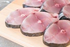 Bifteck frais de maquereau Image libre de droits