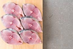 Bifteck frais de maquereau Photo libre de droits