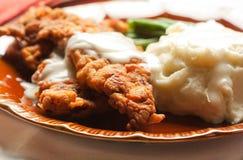Bifteck frit par poulet Photos libres de droits
