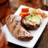Bifteck grillé Photographie stock libre de droits