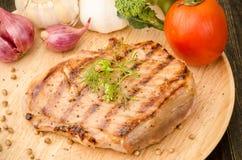 Bifteck grillé Photos libres de droits