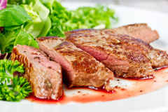 Bifteck grillé d'agneau Images stock