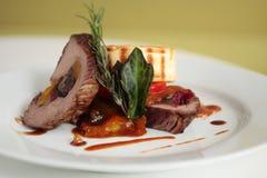 Bifteck grillé d'autruche Photographie stock libre de droits