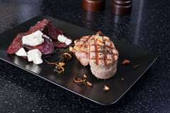 bifteck grillé de porc Photos libres de droits