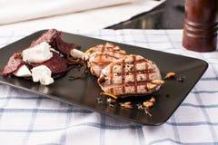 bifteck grillé de porc Images libres de droits