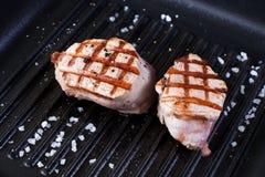 bifteck grillé de porc images stock