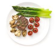 Bifteck grillé organique juteux images stock