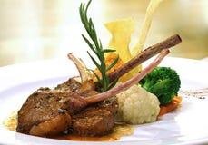 Bifteck grillé d'agneau Images libres de droits