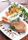 Bifteck juteux de porc image libre de droits