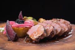 Bifteck juteux de veau photographie stock