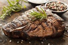 Bifteck à l'os grillé de BBQ Photo stock