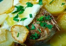 Bifteck portugais de style Photos stock