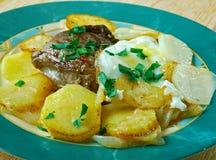 Bifteck portugais de style Photo stock