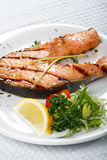 Bifteck saumoné photo stock