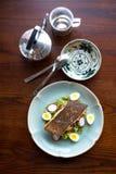 Bifteck saumoné dans le style thaïlandais Photo stock