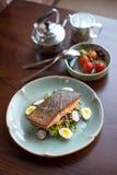 Bifteck saumoné dans le style thaïlandais Image stock
