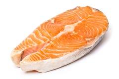 Bifteck saumoné frais Images libres de droits