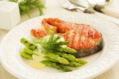 Bifteck saumoné grillé Image stock