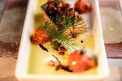 Bifteck saumoné grillé frais Photo libre de droits