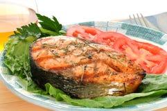 Bifteck saumoné Photographie stock libre de droits