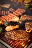 Bifteck sur le BBQ Images libres de droits
