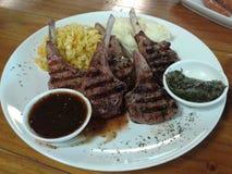 Biftecks d'agneau Image stock