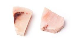 Biftecks d'espadons sur le blanc Images stock