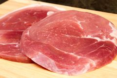 Biftecks de Gammon images stock