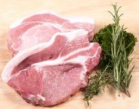 Biftecks de porc Photo libre de droits