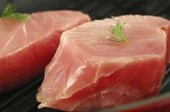 Biftecks de thon frais Image libre de droits