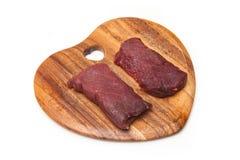 Biftecks de viande de chameau Photos libres de droits