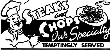 Biftecks et côtelettes 2 Photos libres de droits