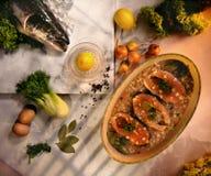 Biftecks saumonés écossais photographie stock libre de droits