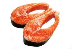 Biftecks saumonés Photographie stock