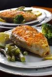 Biftecks saumonés rôtis Photos libres de droits