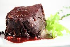 Biftek avec la pomme de terre mise en purée Photographie stock libre de droits