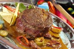 Biftek mexicain Mexicano de spécialité Image stock