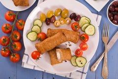 Bifteki希腊人丸子 免版税库存照片