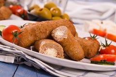 Bifteki希腊人丸子 库存图片