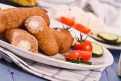 Bifteki Griekse vleesballetjes royalty-vrije stock foto's