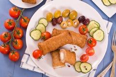 Bifteki Griekse vleesballetjes royalty-vrije stock afbeelding