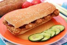 Biftekihamburger stock afbeelding