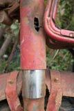 Bifurcación delantera del ECU y defensa fangosas verticales del top de la motocicleta ligera Fotos de archivo libres de regalías