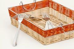 Bifurcaciones y cesta Fotos de archivo libres de regalías
